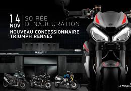 Soirée inauguration Triumph Rennes 14 novembre